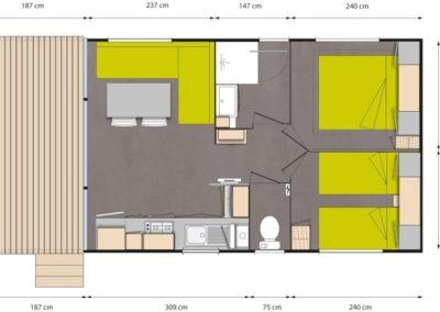 Plan du chalet mobile home O Hara