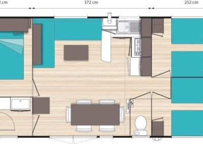 Plan of the Chalet Edelweiss 6 people