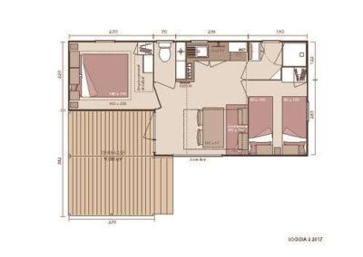 Plan du chalet Loggia 2 la Toussuire