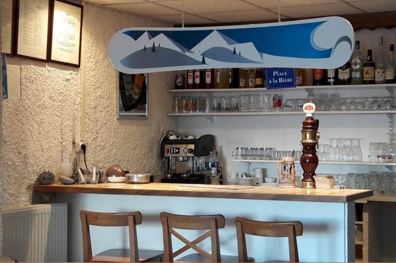 Bar en Restaurant Camping Caravaneige van de Col sur la Toussuire-de Sybelles in Maurienne Savoie